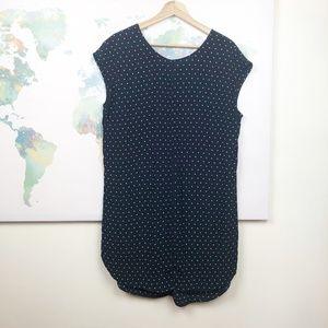 Madewell Polka Dot Layout Tunic Dress Size Medium